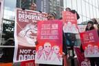 Laissez Lucy rester: les montréalais.es se rallient pour une femme sans papiers menacée de déportation dans trois jours (Groupe CNW/Solidarité sans frontières)