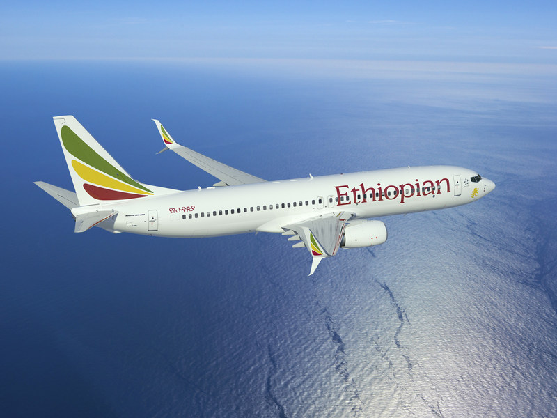 Rendering of an Ethiopian Airlines 737-800 with APB Split Scimitar Winglets