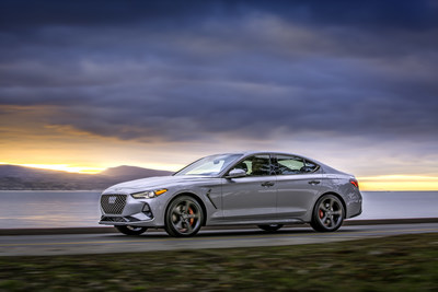1) 2019 Genesis G70 with 3.3L twin-turbo V-6 and all-wheel drive. Capable of accelerating from 0-60mph in just 4.5 seconds.