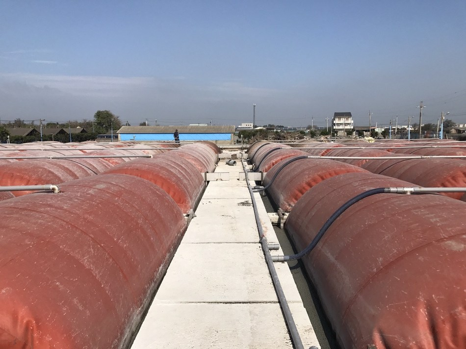 UBM Taiwan has planned a biogas technology pavilion. The picture shows biogas storage tanks for gas digester. (Provided by ITRI).