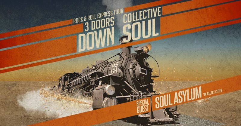 All Aboard The Rock & Roll Express! 3 Doors Down And Collective Soul To Co-Headline Tour With Special Guest Soul Asylum