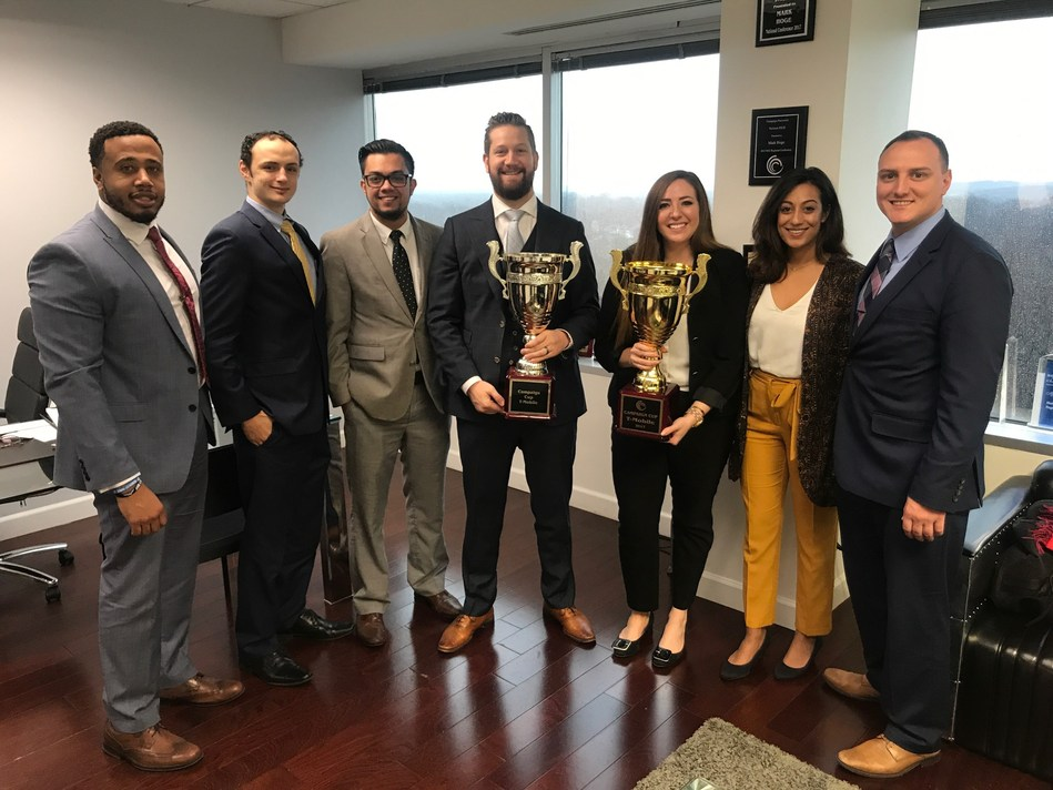 Zerin Business Consulting earned national sales honors for their excellent 2017 results.