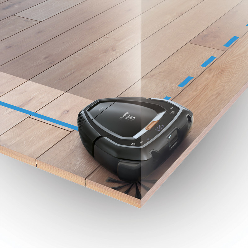 The Electrolux Pure i9 Robotic Vacuum Cleaner features a unique triangular Trinity Shape™ and extended side brush to reach every corner.