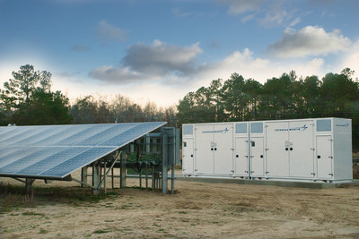 Shown here is one of Cypress Creek's 12 solar-plus-storage installations in North Carolina. The projects will provide 12 MWh of Lockheed Martin GridStar™ Lithium energy storage.
