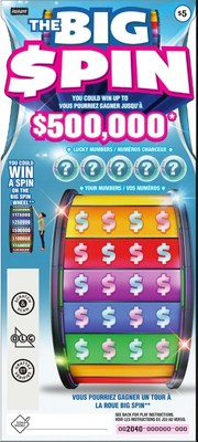 THE BIG SPIN INSTANT ticket (CNW Group/Pollard Banknote Limited)