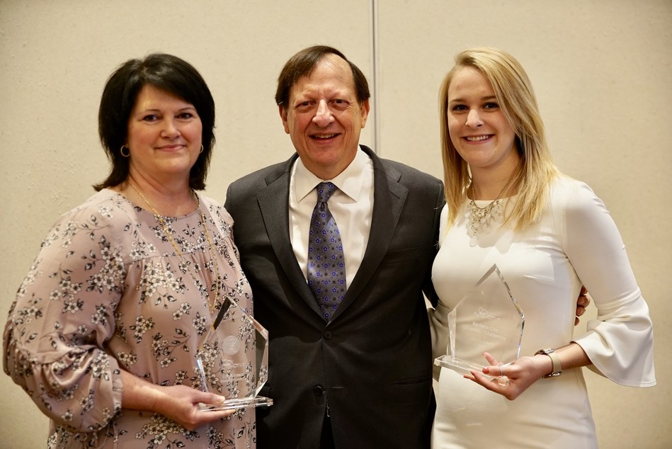 L-R:  Ellie Johnson, general manager at Manheim Statesville; Sandy Schwartz, president at Cox Automotive; Mollie Arnold, junior at Northwood University