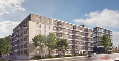 Fonds immobilier de solidarité FTQ and Bilodeau Immobilier team up on the AM/FM student housing project in Québec City. (CNW Group/Fonds de solidarité FTQ)