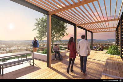 The AM/FM project will offer two buildings near Cité-Universitaire de Québec by end of June 2018. (CNW Group/Fonds de solidarité FTQ)