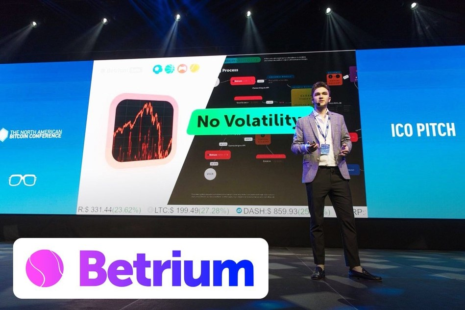 Maksym Suvorov, co-founder of Betrium, on TNABC conference, Miami. (PRNewsfoto/Betrium.co)