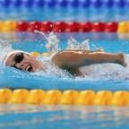 Aurélie Rivard, Paranatation. Photo : Scott Grant (Groupe CNW/Association canadienne des Jeux du Commonwealth)