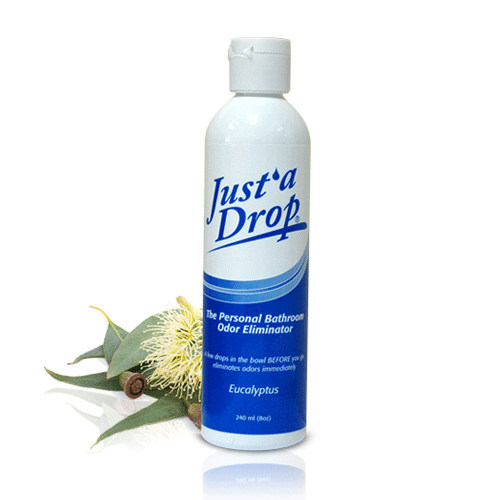 Just'a Drop's bathroom odor eliminator effectively traps and eliminates 98% of odors before they escape into the air.