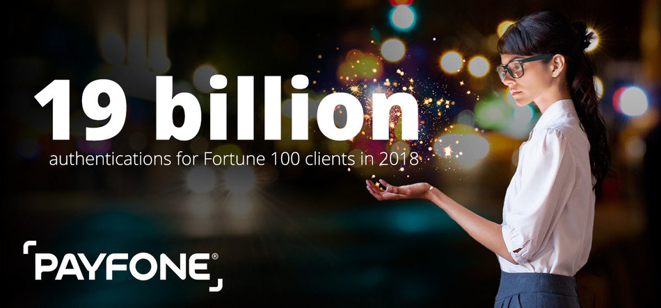 Payfone is on track to authenticate 19 billion transactions this year for Fortune 100 companies.
