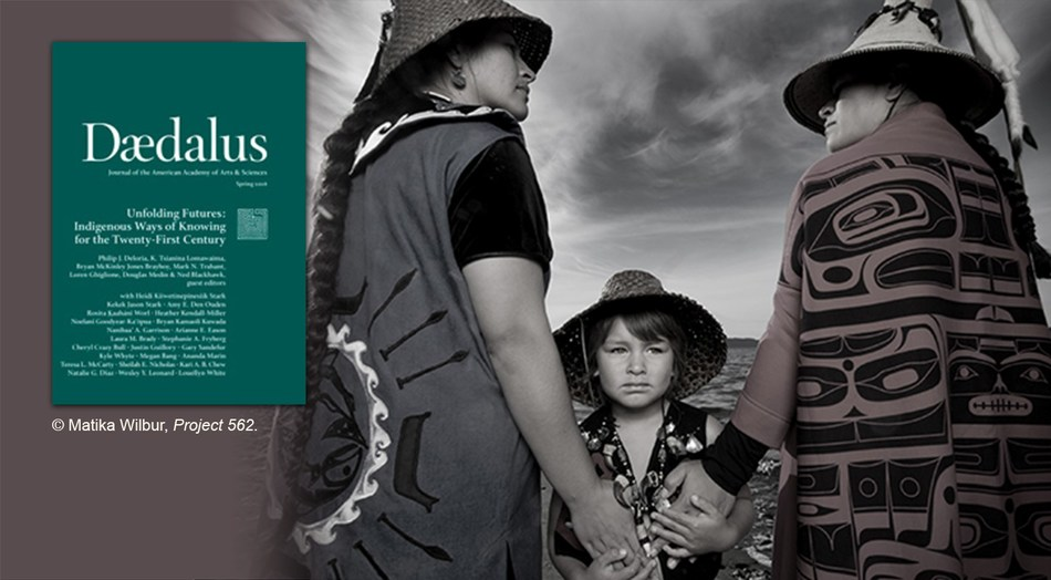 """""""Unfolding Futures: Indigenous Ways of Knowing for the Twenty-First Century,"""" the Spring 2018 issue of Daedalus, the journal of the American Academy of Arts and Sciences, explores the unique, sovereign, and central position that Native Americans occupy in confronting the critical issues of the twenty-first century. Guest edited by Philip J. Deloria, K. Tsianina Lomawaima , Bryan McKinley Jones Brayboy, Mark N. Trahant, Loren Ghiglione, Douglas Medin, and Ned Blackhawk."""