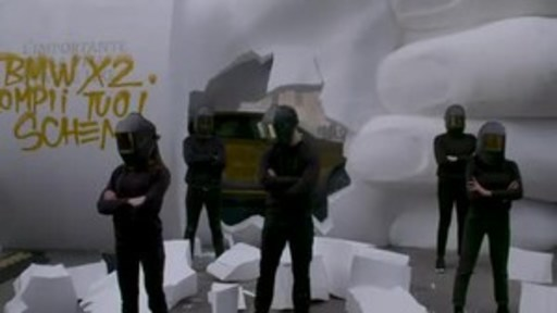 A Mysterious Giant 'Like' Statue Destroyed for the Launch of the Newborn  #BMWX2:  The Car That Breaks Every Convention.