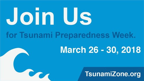 Join us for Tsunami Preparedness Week and learn more at TsunamiZone.org!
