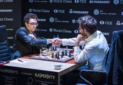 With his win at the Candidates Tournament which was held in Berlin, Germany, and concluded on March 27, 2018, Fabiano Caruana (left) became the first American to challenge for the World Chess Championship title since Bobby Fischer in 1972.