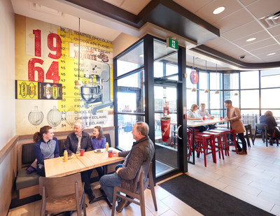 Tim Hortons® rich heritage is celebrated with commissioned art found throughout the revitalized Restaurant. (CNW Group/Tim Hortons)