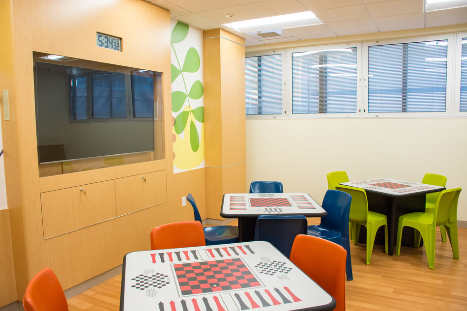 Photo of CHOC Children's Mental Health Inpatient Center group activity room.