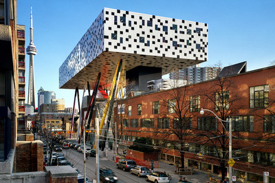 OCAD University and the iconic Sharp Centre for Design. Photo credit: Richard Johnson. (CNW Group/OCAD University)