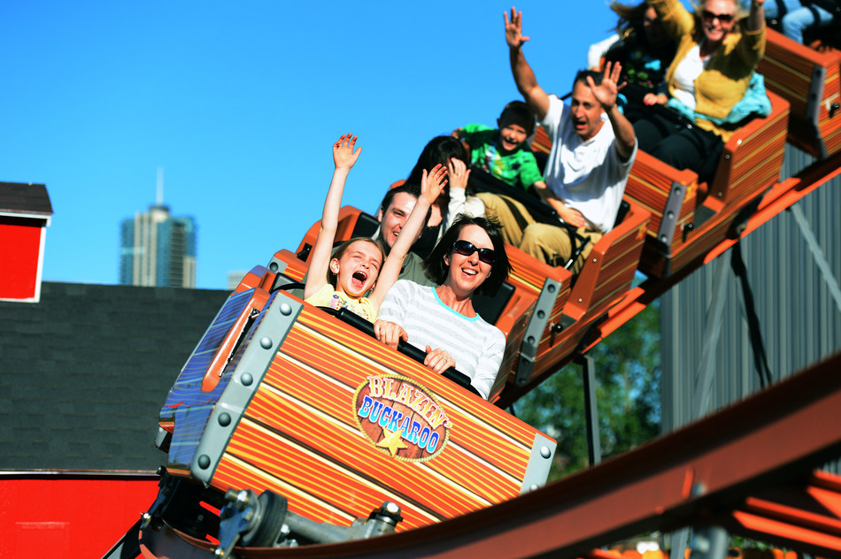 Summer family fun at Elitch Gardens Theme & Water Park in Denver, CO.
