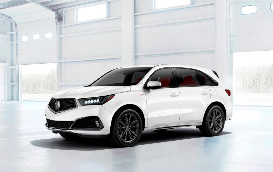 The 2019 Acura MDX A-Spec made a surprise debut today at the 2018 New York International Auto Show. Launching mid-year at Acura dealerships nationally, the MDX A-Spec will complete the introduction of A-Spec variants to Acura's core model lineup that includes the ILX A-Spec, TLX A-Spec and the all-new 2019 Acura RDX A-Spec, also making its world debut today in New York.