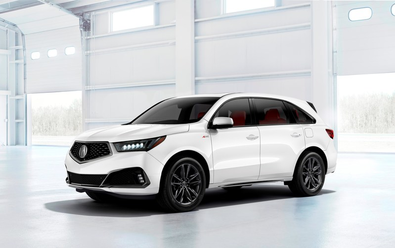 all new 2019 acura mdx a spec variant makes surprise debut at new york international auto show. Black Bedroom Furniture Sets. Home Design Ideas