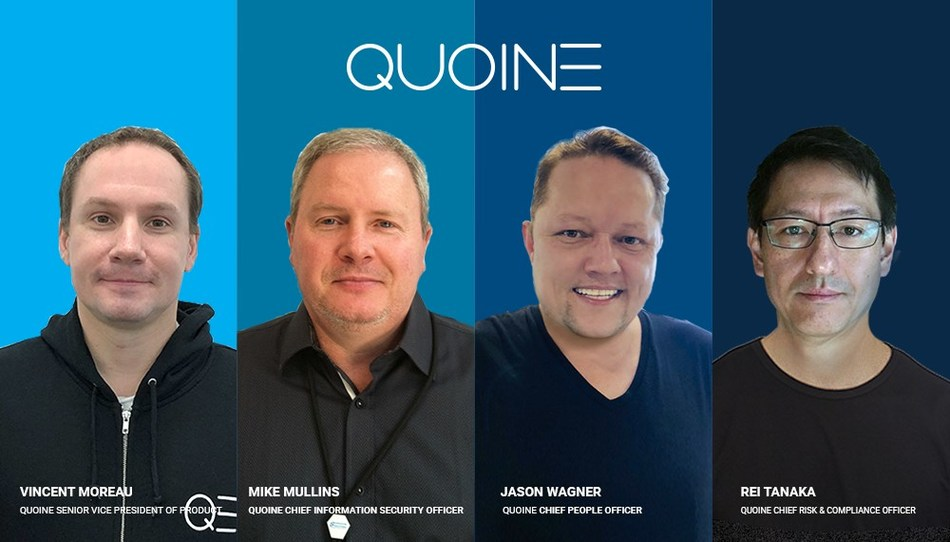 QUOINE Strengthens Leadership Team with Four Key Hires (PRNewsfoto/QUOINE)