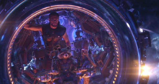Chris Hemsworth in the Avengers: Infinity War