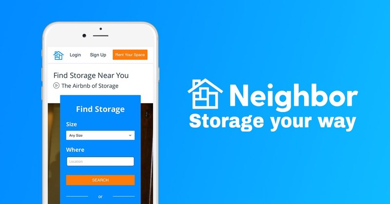 Neighbor connects people who have unused space in their homes, garages or apartments to renters who are looking for affordable storage