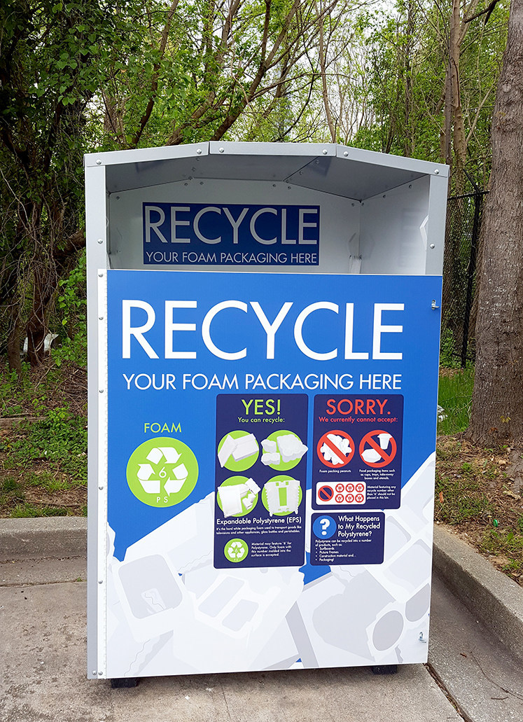 Expanded Polystyrene (EPS) Recycling Collection Bin