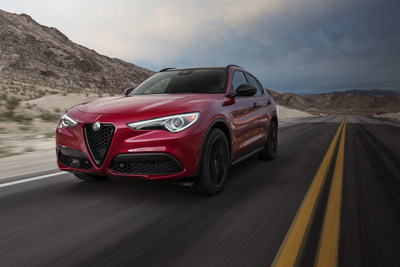 Alfa Romeo's all-new Nero Edizione package announced in New York for 2.0L Giulia sedan and Stelvio SUV models