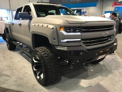 Holiday Automotive recently ordered a Black Widow Chevy Silverado for its inventory not unlike this one.