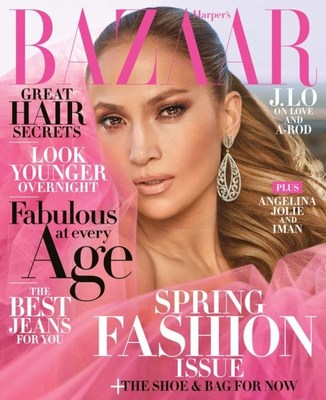 Jennifer Lopez April 2018 Cover wearing Le Vian