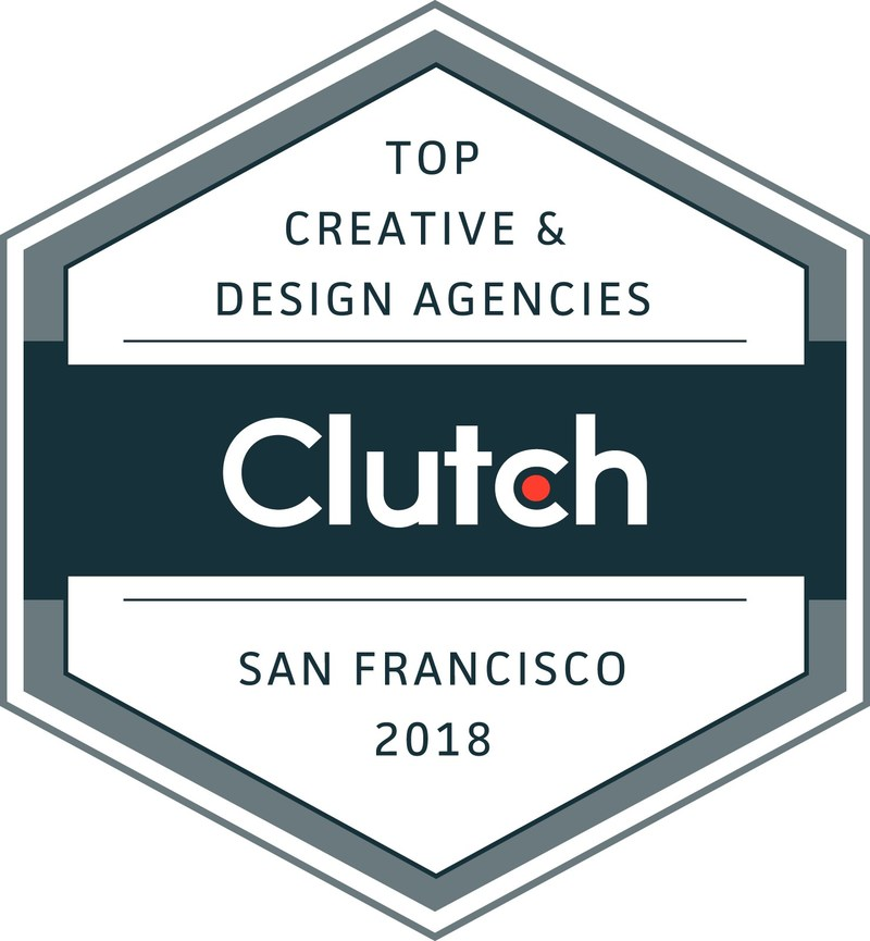 Clutch named the top performing creative design and for Design agency san francisco