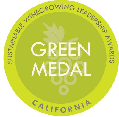 The California Green Medal recognizes the leadership of wineries and vineyards committed to sustainable winegrowing.  See: www.greenmedal.org for more information.