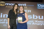 Erin Salisbury (right) being awarded as Young Professional of the Year by BBC presenter and comedian Ellie Taylor (left). Photo credit: PRmoment (PRNewsfoto/Ketchum Ltd)