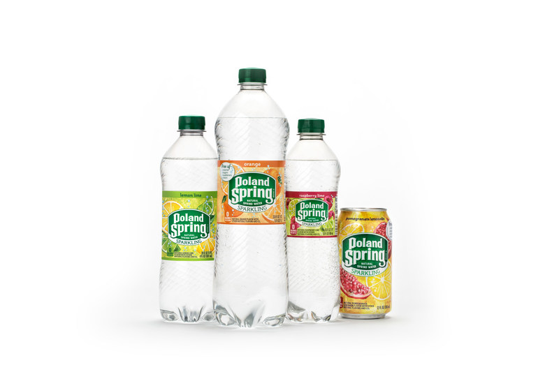 The new line-up of Sparkling Poland Spring® Brand Natural Spring Water is made with real spring water, real fruit flavors and refreshing bubbles. Free of calories with no sugars, sweeteners and colors, the sparkling water portfolio includes ten exciting flavors including Lively Lemon, Lemon Lime, Zesty Lime, Orange, Triple Berry, Summer Strawberry, Raspberry Lime, Black Cherry, Pomegranate Lemonade and Simply Bubbles.