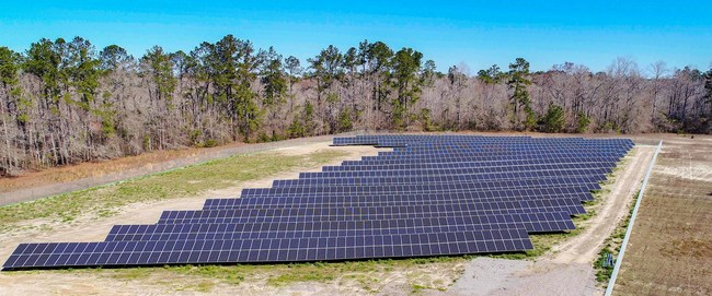 One of the 12 new utility-scale LG solar farms in North Carolina, developed by LG Electronics with Cypress Creek Renewables.
