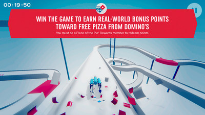 Domino's is giving loyal customers yet another way to earn points toward free pizza – by beating the new Piece of the Pie Pursuit mobile game.