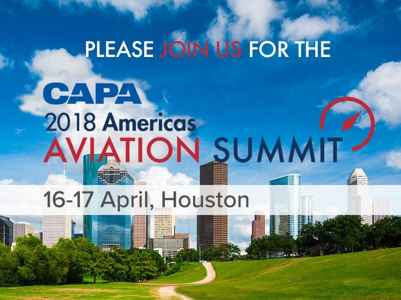 About the CAPA Americas Aviation Summit: The fourth annual CAPA Americas Aviation Summit on 16-17 April 2018 (register at https://amas18.capaevents.com/) will be hosted by Houston Airports at the Hilton Americas-Houston. The event will provide the best aviation briefing about issues in the Americas and internationally. Organized by CAPA - Centre for Aviation, the leading provider of aviation news, analysis, data and events, the event will provide a high-level forum for debate and discussion of strategic issues facing the region's aviation industry. Who should attend? The CAPA Americas Aviation Summit will attract airline and travel industry CEOs from across the Americas region, Asia, Europe and the Middle East.