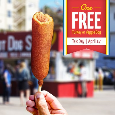 One Free Hot Dog on a Stick on Tax Day!