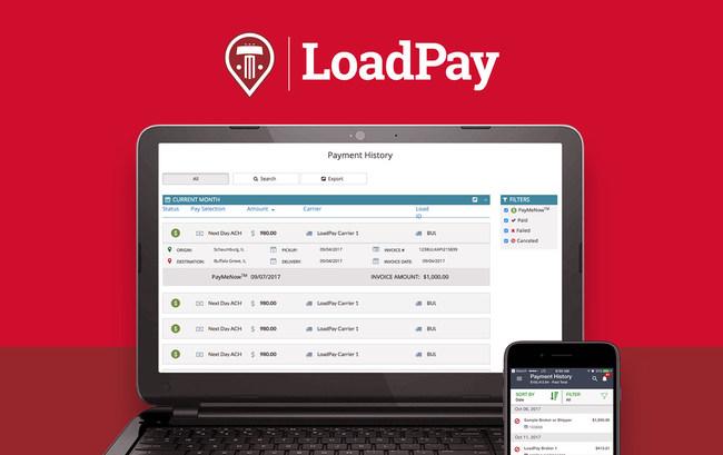 Truckstop.com's LoadPay payment platform offers convenient mobile solution.