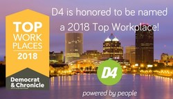 D4 named 2018 Top Workplace