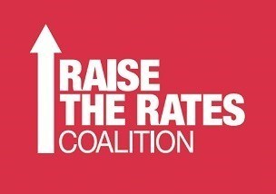 Logo: Raise the Rates Coalition (CNW Group/Canadian Union of Public Employees (CUPE))