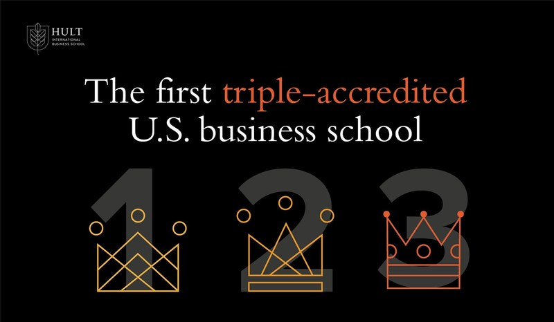 Hult Business School - The first triple accredited US Business school. (PRNewsfoto/Hult IBS)