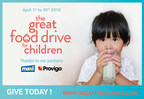 From April 1st to the 30th, three Moisson food banks join forces to combat hunger affecting babies and children up to 5 years old