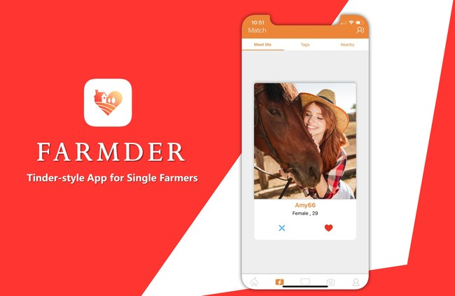 Farmder, the Tinder-style app for single farmers