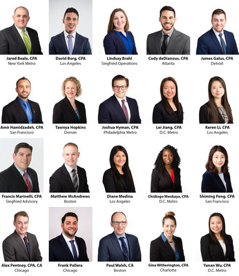 The Siegfried Group, LLP, a nationally-recognized CPA and leadership advisory firm, is pleased to welcome many talented new Professionals to its team.