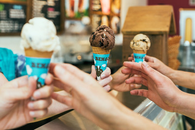Ben & Jerry's celebrating Free Cone Day today