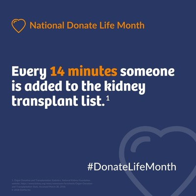 Talk with your doctor about becoming a donor. Learn more at DaVita.com/Transplant.